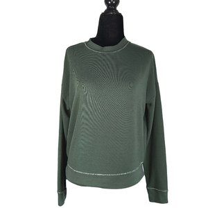 NU Green Soft Sweater with Silver Trim XS